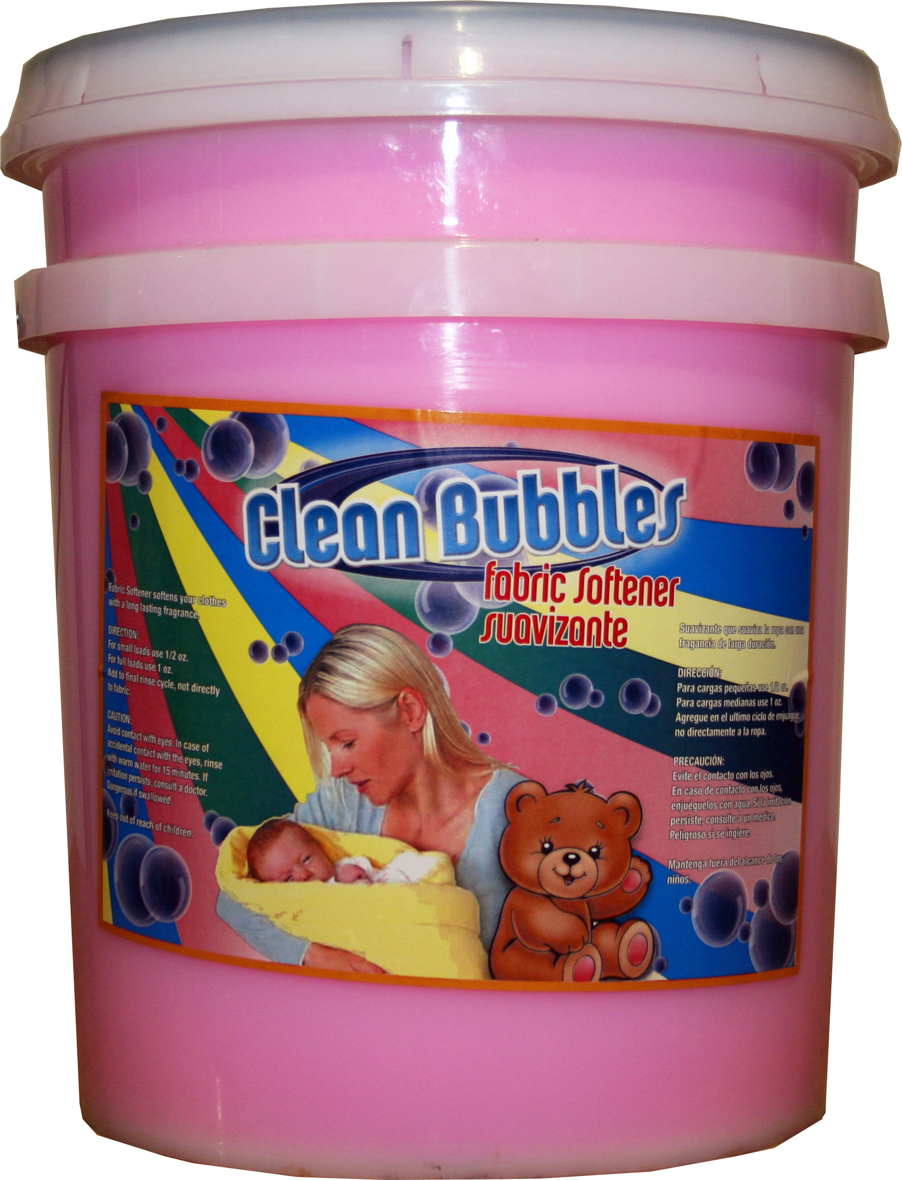 bubbles fabric softener pink